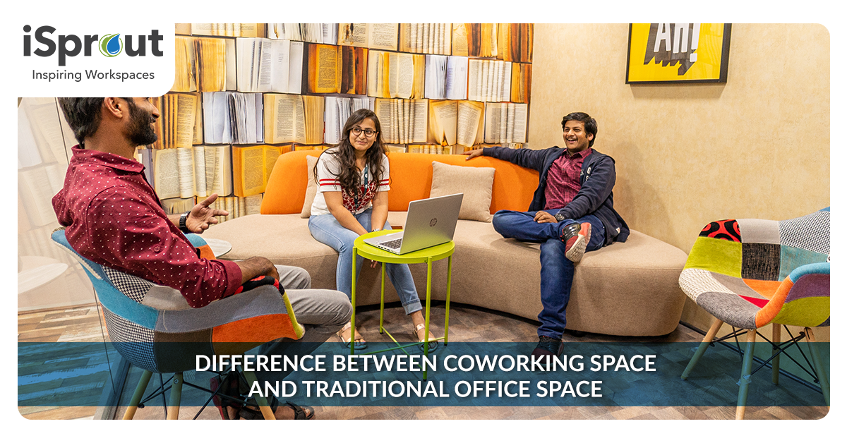 coworking space and traditional space